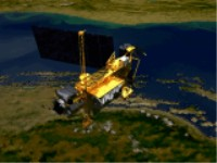 UARS spacecraft image being swapped by instruments image